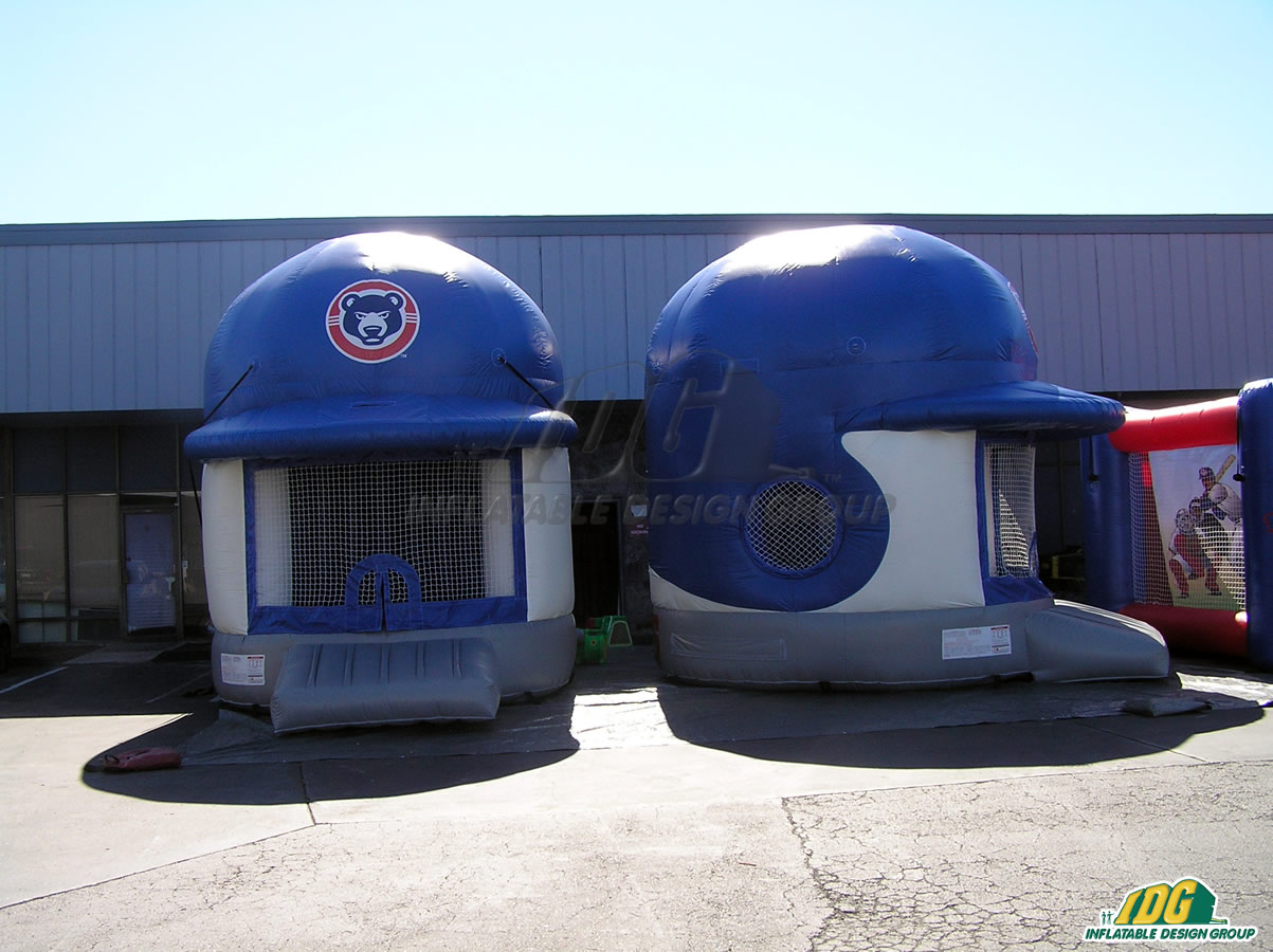 South Bend Cubs Inflatable Helmet Bounce