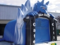 Inflatable Blue Devil Entryway