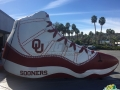 oklahoma custom inflatable free throw shoe