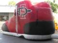 sdsu custom inflatable free throw shoe