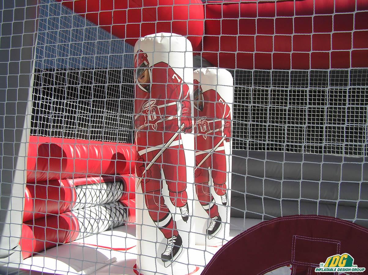 Dubuque Fightin Saints Inflatable Hockey Bounce