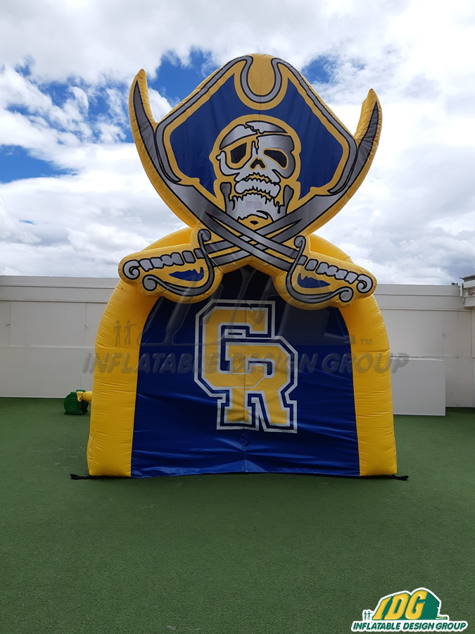 crystal river hs custom inflatable tunnel and logo combo
