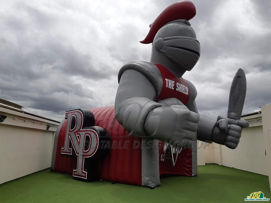 riverside prep custom inflatable knight entryway