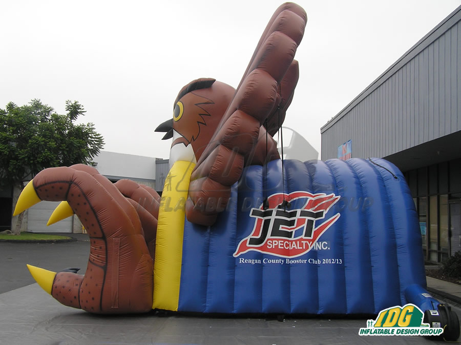 Inflatable Brown Owl Tunnel Side View