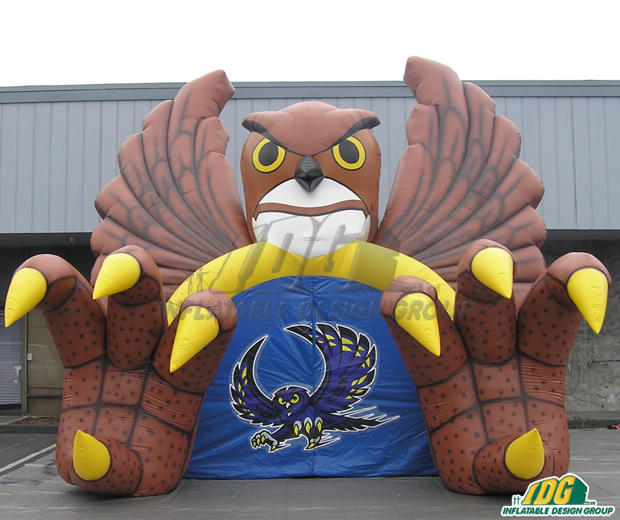 Inflatable Brown Owl Tunnel