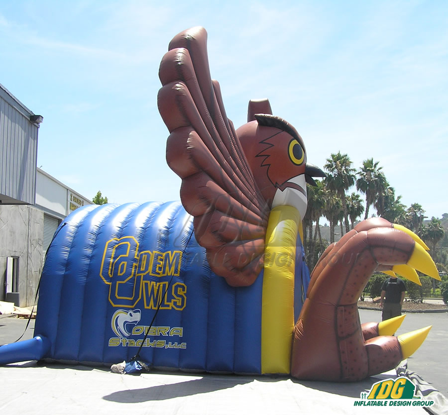Inflatable Owl Mascot Entryway