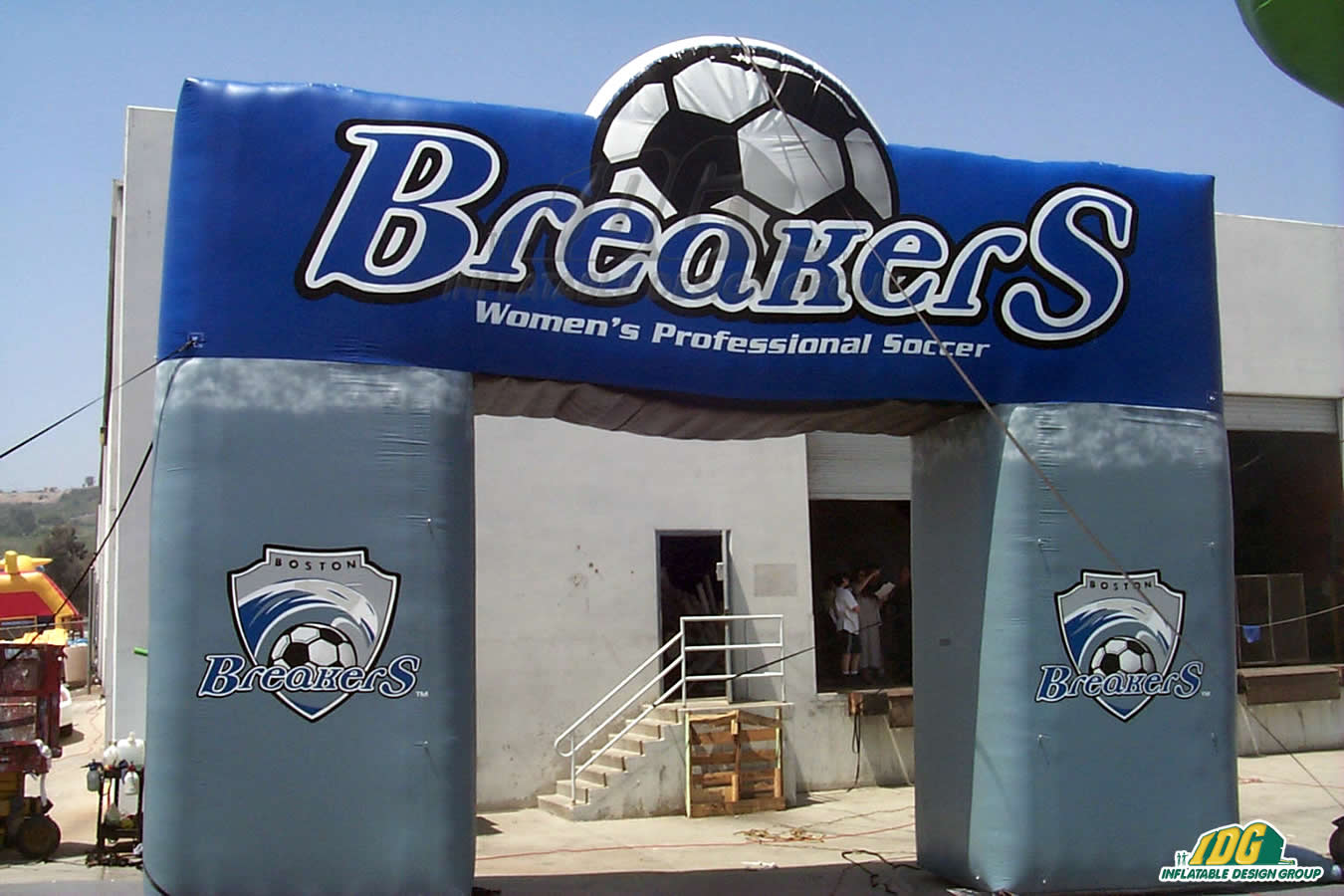 Boston Breakers Inflatable Soccer Arch