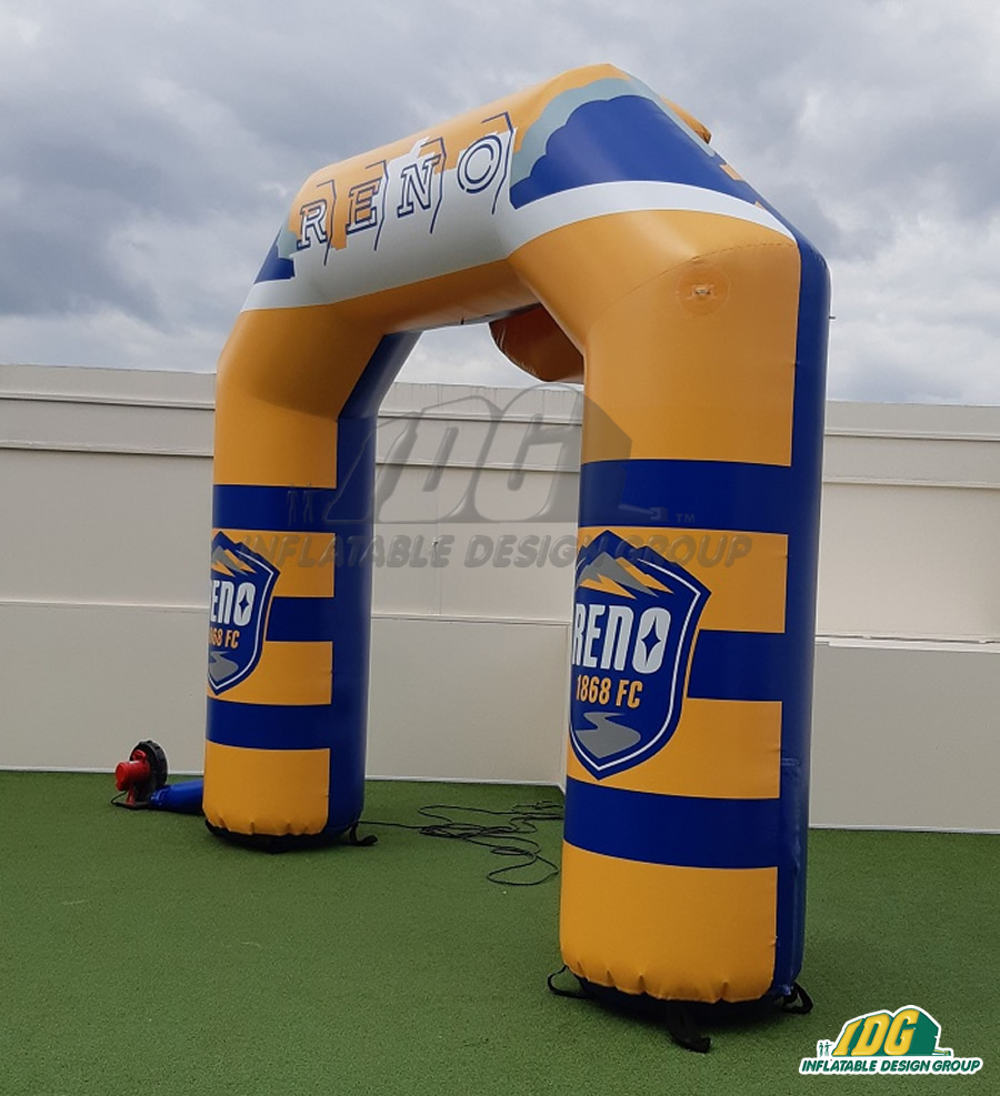 Reno 1868 Inflatable Soccer Arch