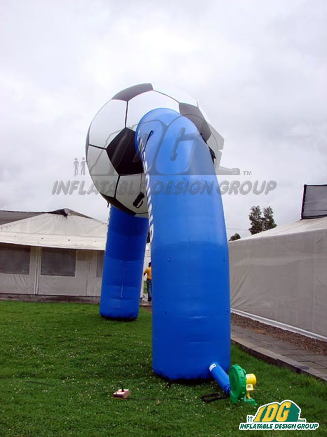 Soccer Town Playground Inflatable Arch
