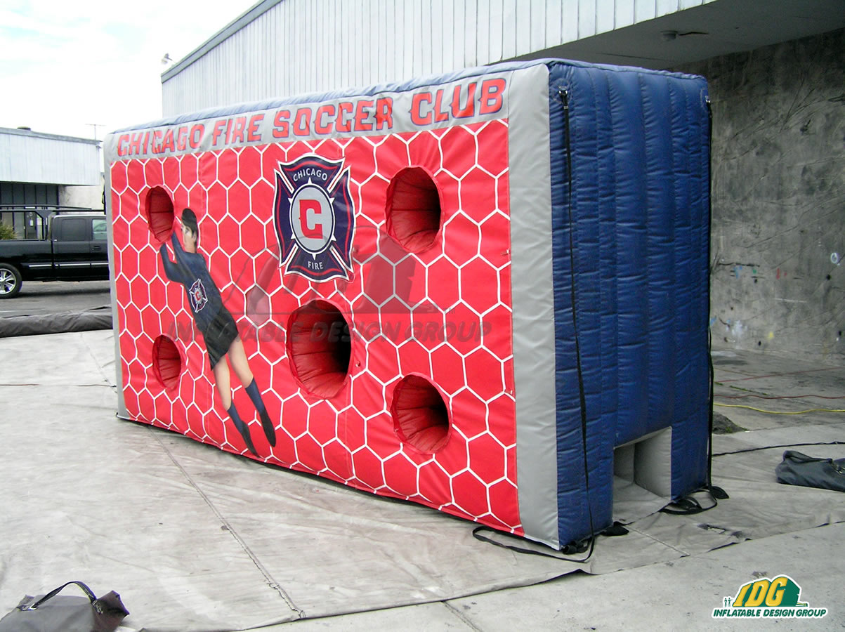 Chicago Fire Inflatable Soccer Target Wall