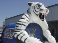 Inflatable Bengal Tiger Entryway Side View