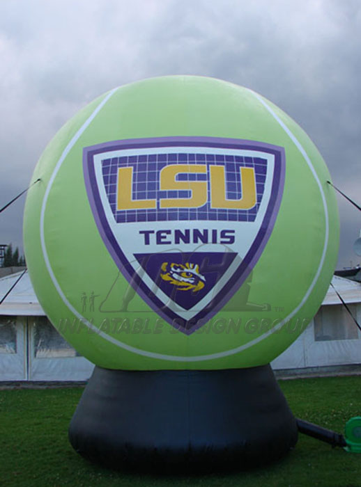 lsu custom inflatable tennis ball