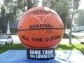 texas custom inflatable basketball