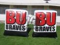 bradley university custom inflatable logo block