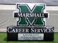 marshall university custom inflatable logo block