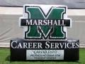 marshall university custom inflatable logo block