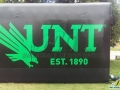 university of north texas custom inflatable logo block