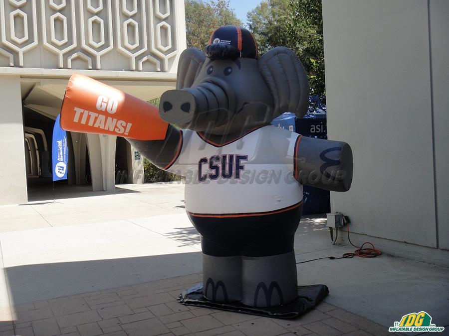 csu fullerton custom inflatable elephant mascot