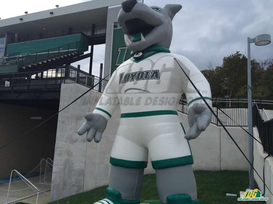 loyola custom inflatable wolf mascot