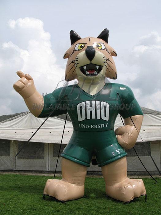 ohio university custom inflatable bobcat mascot
