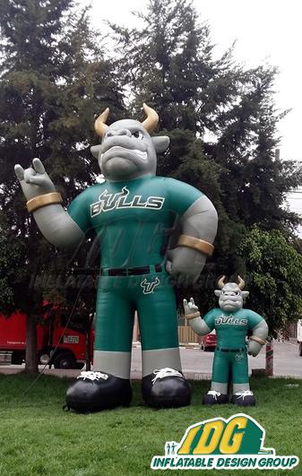 south florida custom inflatable bull mascot