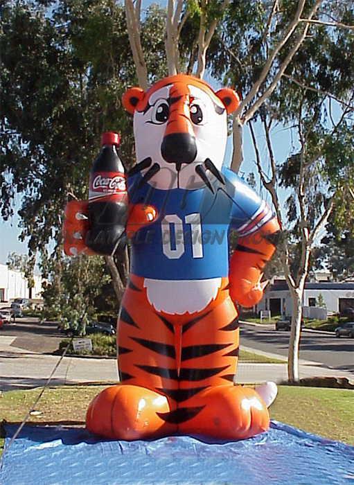 auburn custom inflatable tiger mascot