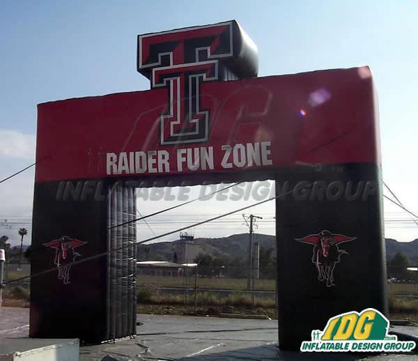 Texas Tech Custom Inflatable Arch