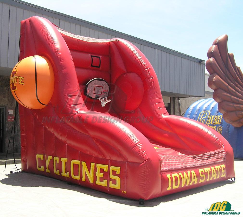 iowa state custom inflatable free throw contest