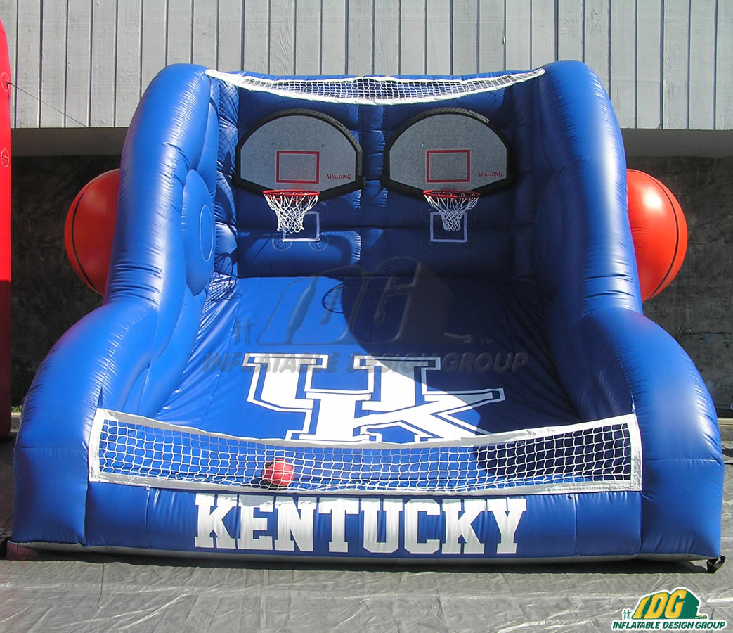 kentucky custom inflatable free throw contest