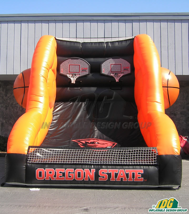 oregon state custom inflatable free throw contest