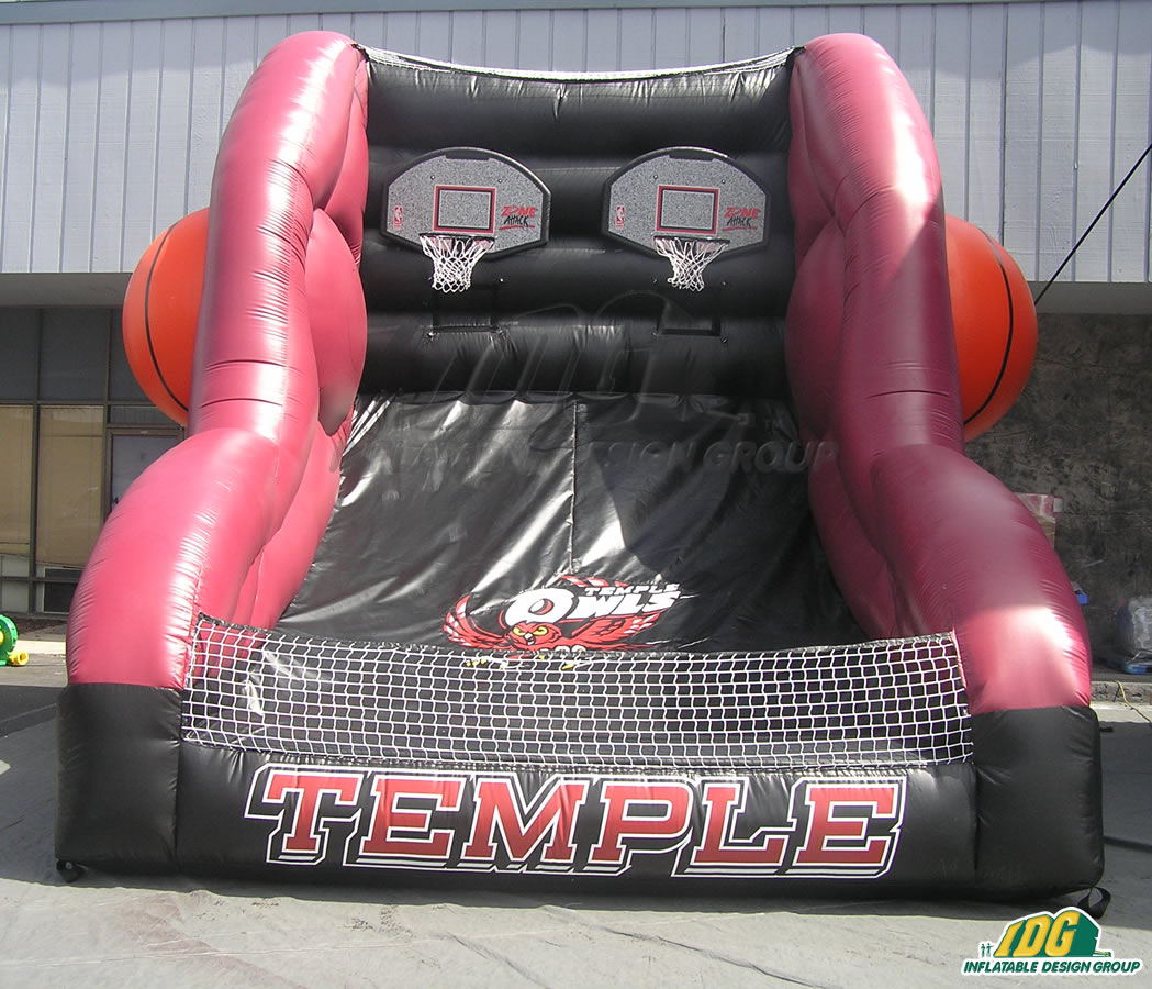 temple custom inflatable free throw contest