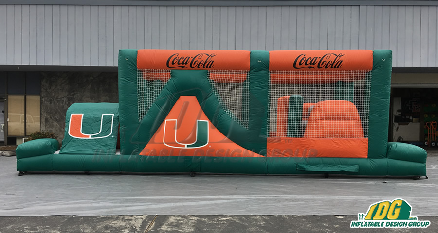 Green and Orange Obstacle Course