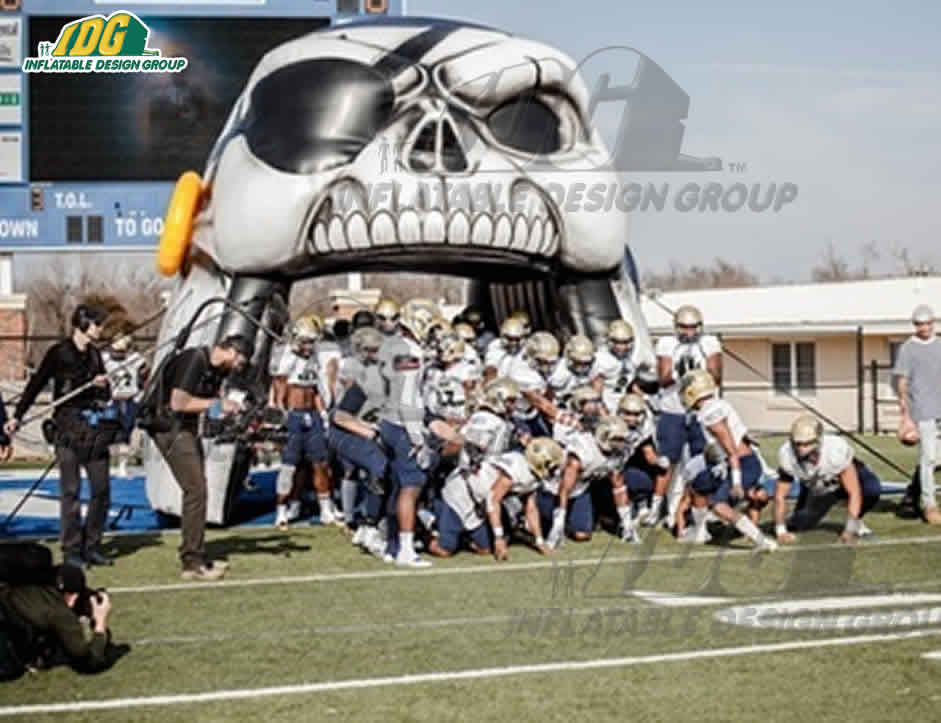 skull mascot university custom inflatable entrance ways