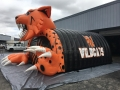 Inflatable Wildcat Mascot Side View