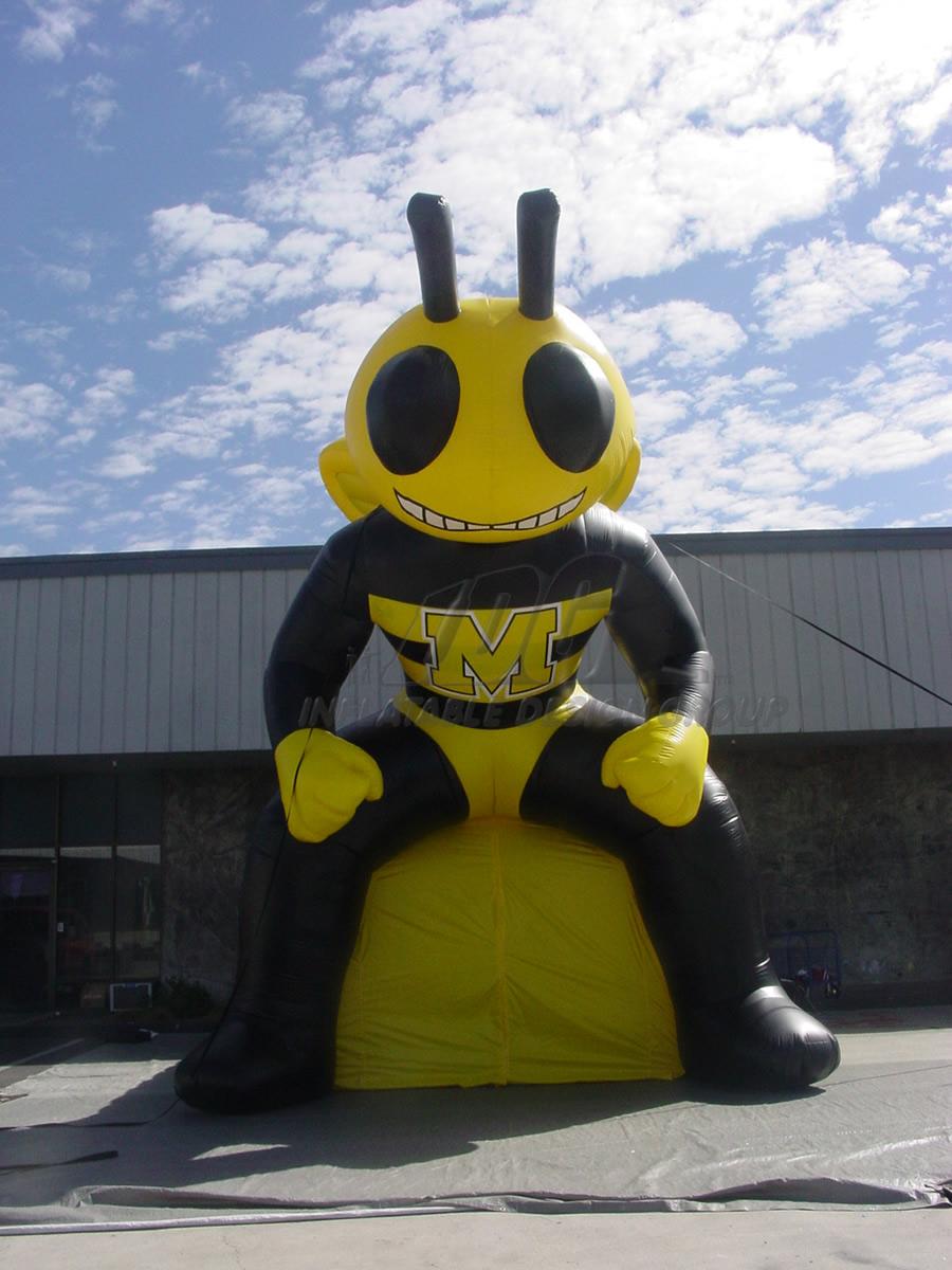 Inflatable Yellowjacket Mascot