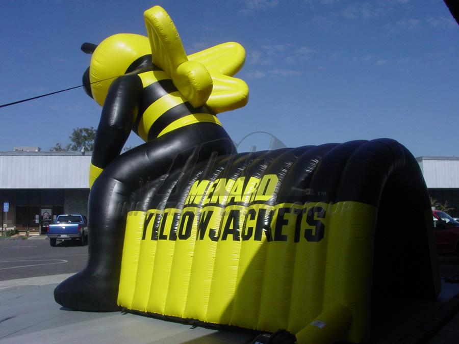 Inflatable YellowjacketTunnel Entryway