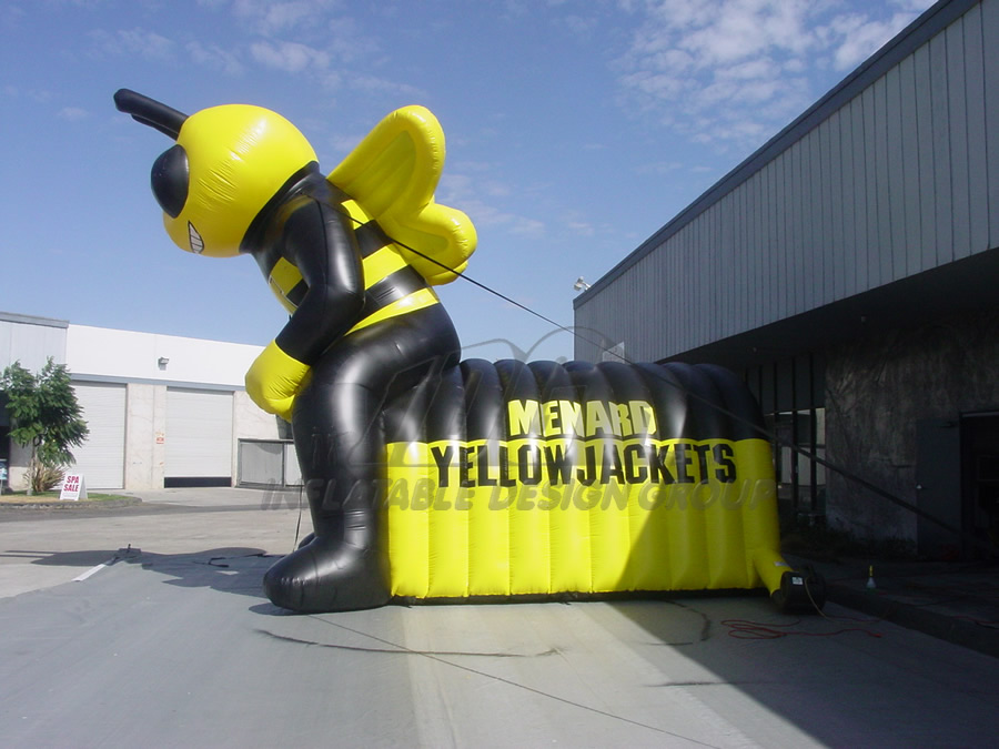 Inflatable Yellowjackets Tunnel