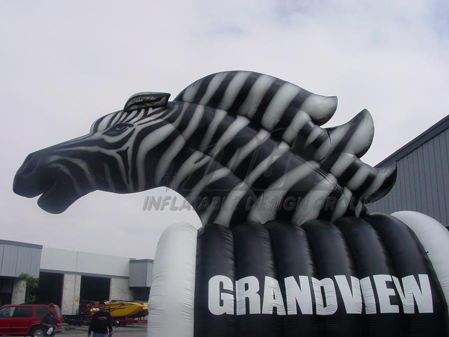Inflatable Zebra Head