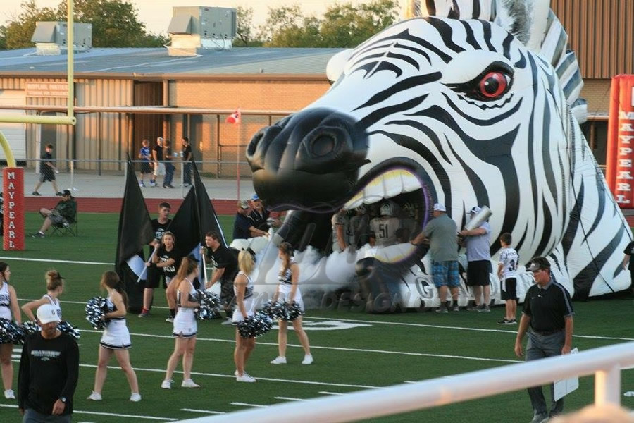 Inflatable Zebra Index