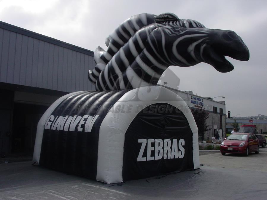 Inflatable Zebra Tunnel
