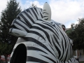 Inflatable Zebra Head Mascot Rear View