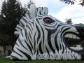 Inflatable Zebra Head Mascot