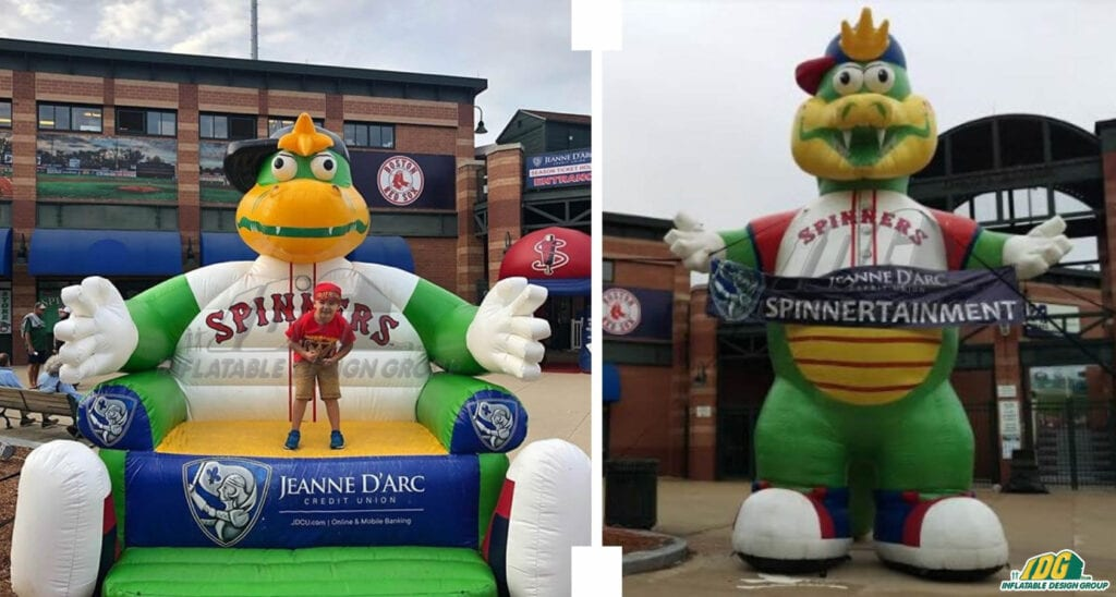 Lowell Spinners Inflatable Mascot and Couch