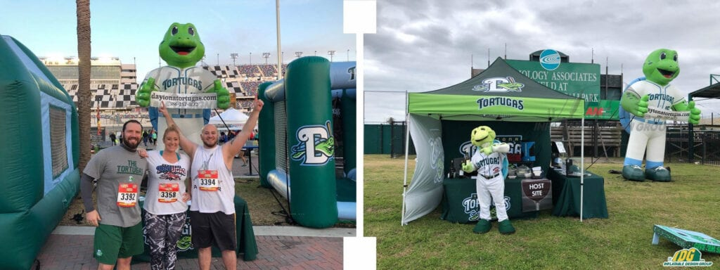 Daytona Tortugas Inflatable Mascot and Vendor Tent