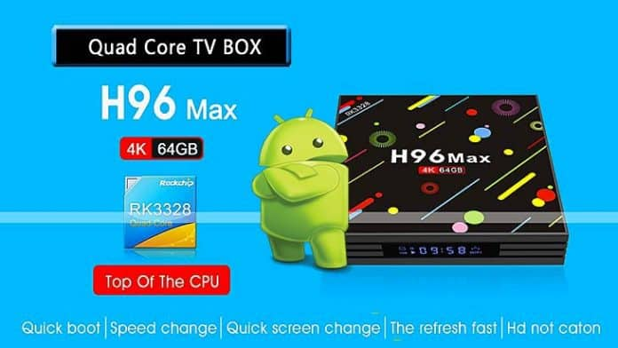 Android Box TV H96 MAX 4 Go / 64 Go Android 7.1