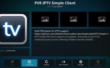 Comment configurer PVR IPTV client simple Kodi