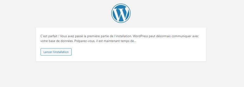 lancer installation wordpress