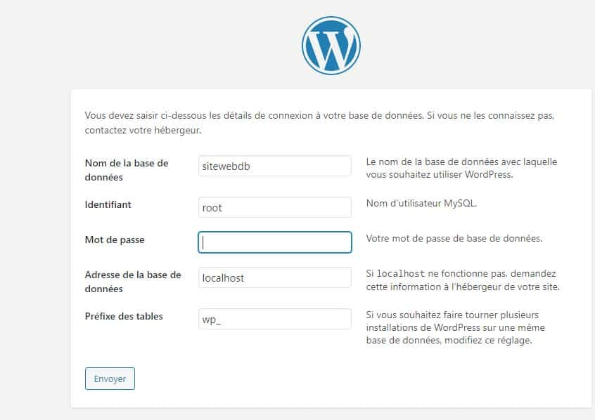 wordpress root