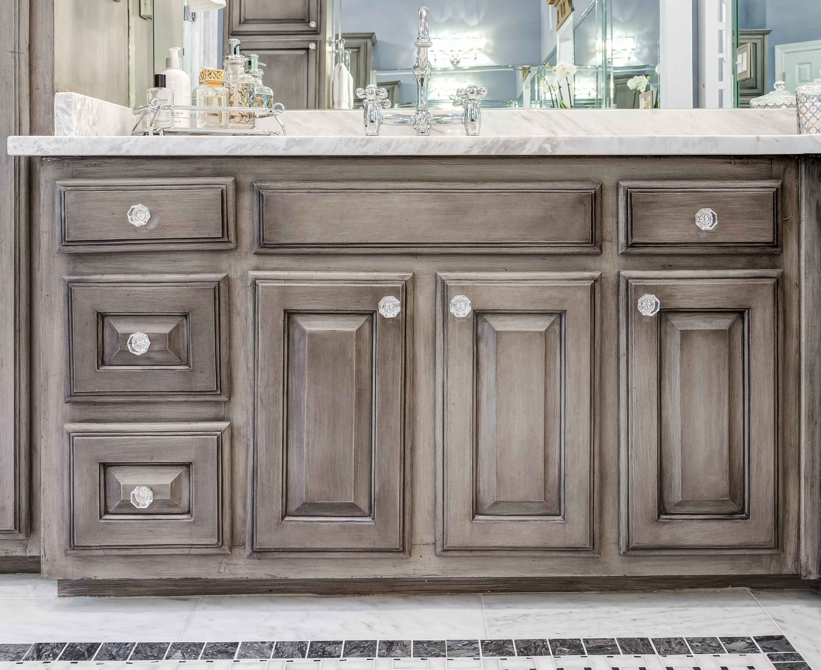 Grey Bathroom Cabinet Detail