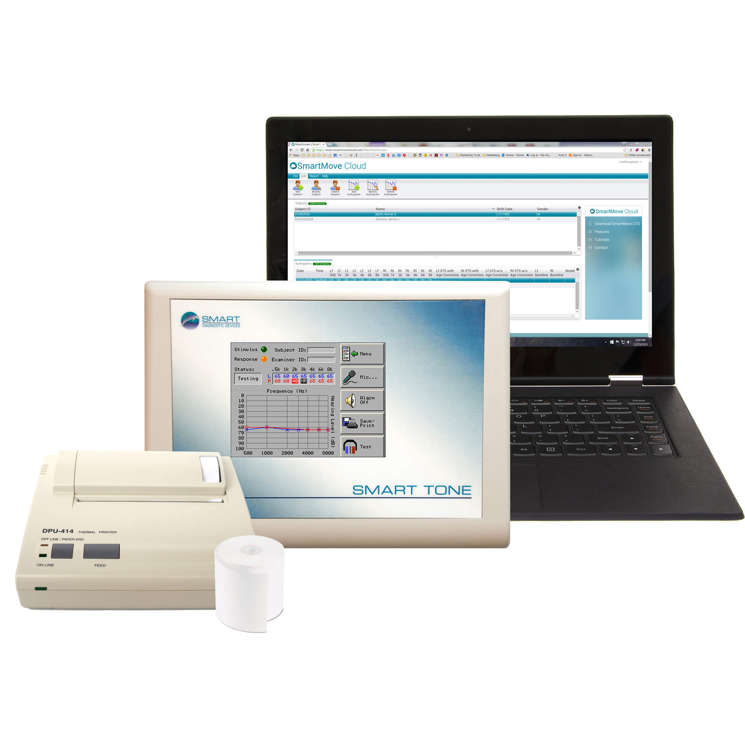 SMART TONE Audiometer with Printer